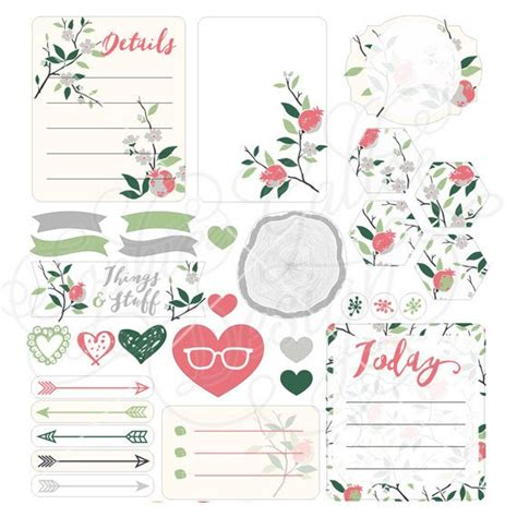 These free flyer templates are well designed and print ready. Nature Printable Planner Sticker Sheet Set SVG JPG digital