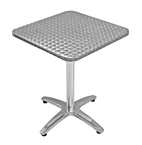 bar height outdoor aluminum stainless steel table and