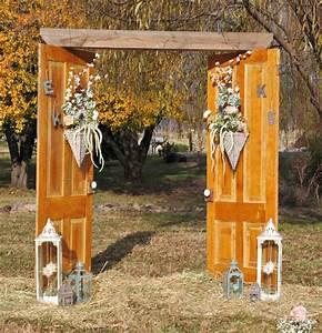 Repurposed Old Doors: Vintage Wedding Arch - She Buys, He