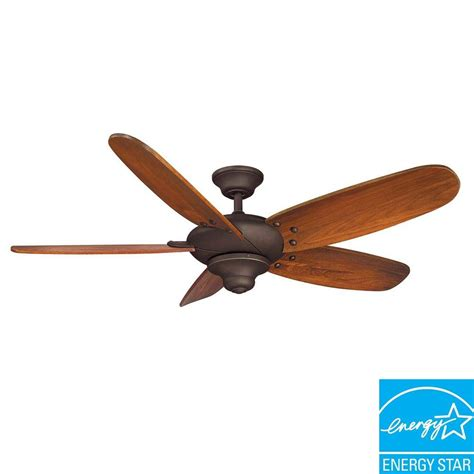 Home Decorators Altura Ceiling Fan Light Kit by Hton Bay Altura 56 Quot Indoor Rubbed Bronze Ceiling