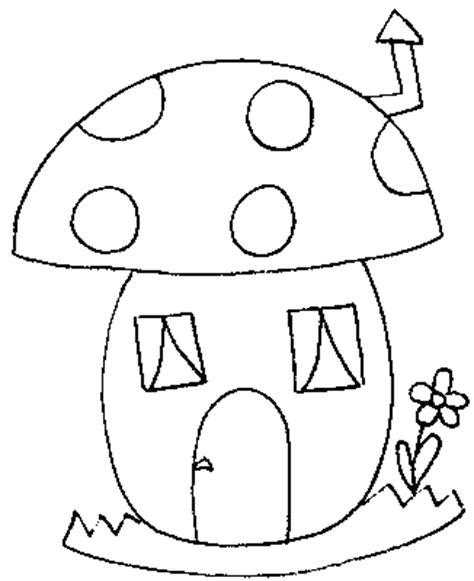 Gambar Rumah Jamur Kartun Gambar Mewarnai Jamur Mewarnai Gambar