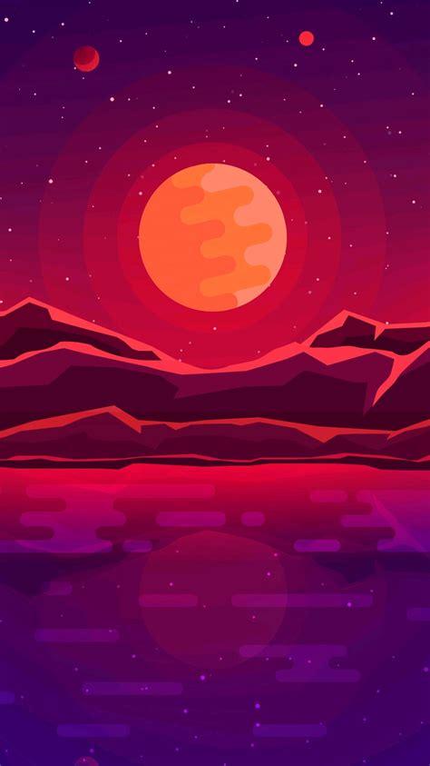 digital sunrise minimal art iphone wallpaper iphone