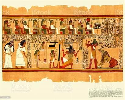 Egyptian Dead Papyrus Ani Ancient Illustrations Illustration