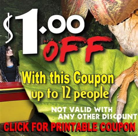 Coupon For Jurassic Jungle Boat Ride by Jurassic Jungle Boat Ride This Ride Is And Exciting