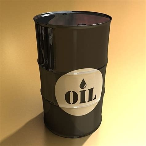 metal oil drums  model max obj ds fbx cgtradercom
