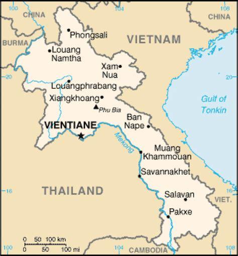 map  laos terrain area  outline maps  laos