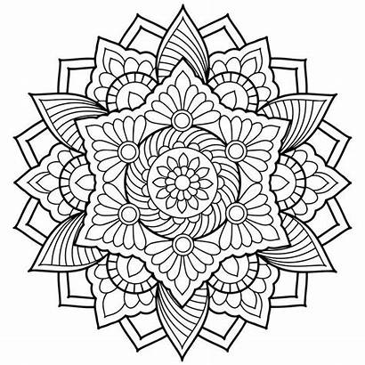 Mandala Coloring Lotus Flower Pages