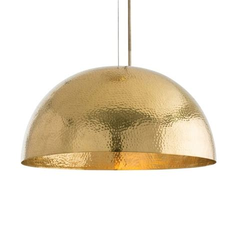 arteriors mambo golden brass dome pendant light theme transitional pendant lighting