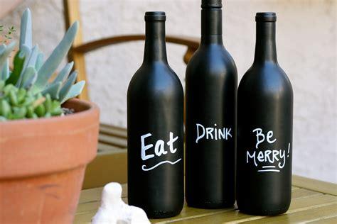 wine bottle diy wine bottle art with chalkboard paint
