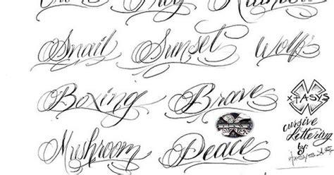 cursive tattoo fonts tattoo letters  cursive tattoo