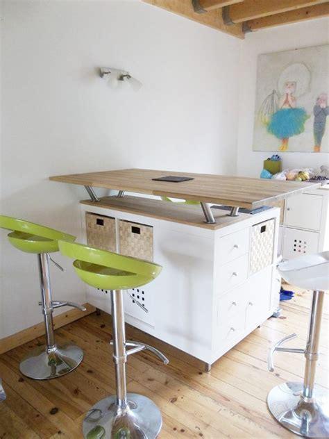 transformez l ikea kallax dans un bar ou un bloc cuisine