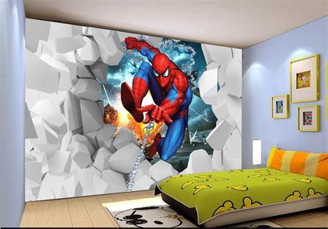 cartoon childrens room bedroom mural wallpaper modern