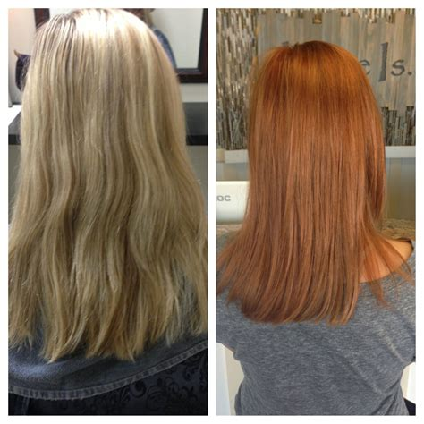 Before And After Blonde To Red Niki Nachodsky En 2019