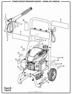 Homelite Ps80516a Powerstroke Pressure Washer Parts Diagram For Figure B
