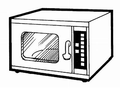 Oven Microwave Clipart Flashcards Open Clean Electronic