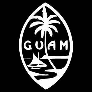 Guam Seal Logo Custom Car Laptop Decal Sticker By