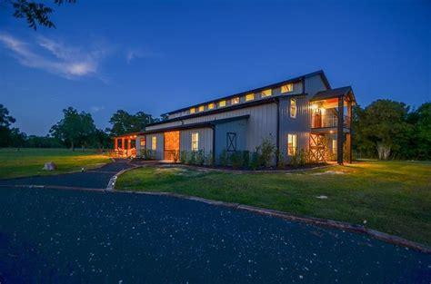 acre needville ranch boasts sleek barndominium