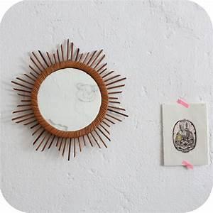 Petit Miroir Rotin : miroir rotin vintage forme etoile atelier du petit parc ~ Melissatoandfro.com Idées de Décoration