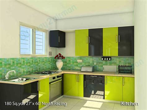 Interior Design For Kitchen Room by Way2nirman 180 Sq Yds 27x60 Sq Ft House 2bhk