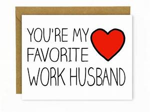 Coworker Gift / Card for Co-worker Favorite Work Husband