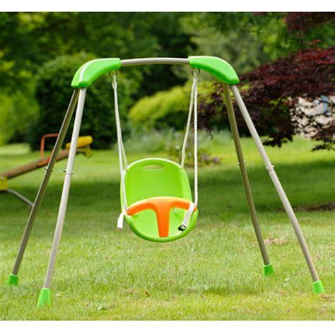 siege gamm vert portique bébé pliable métal et siège plastique baby k 118