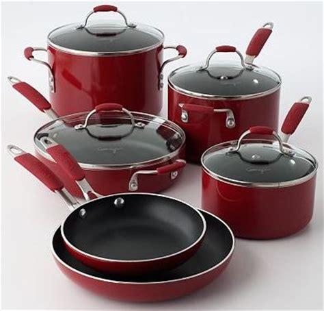 kohls calphalon pc red enamel cookware set