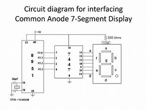 Circuit Diagram For Interfacing Common Anode 7