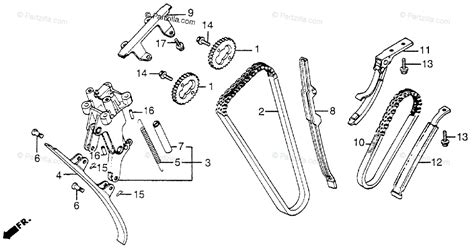 honda motorcycle 1983 oem parts diagram for chain tensioner partzilla