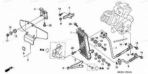 Honda Motorcycle 2003 Oem Parts Diagram For Oil Cooler