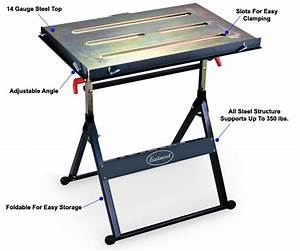 Eastwood Adjustable Steel Welding Table