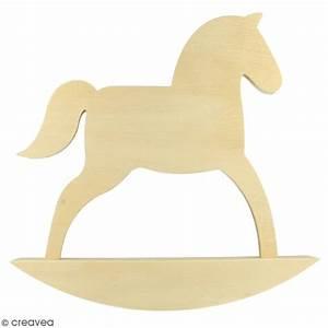 Cheval En Bois à Bascule : grand cheval bascule en bois d corer 24 5 x 25 cm ~ Teatrodelosmanantiales.com Idées de Décoration
