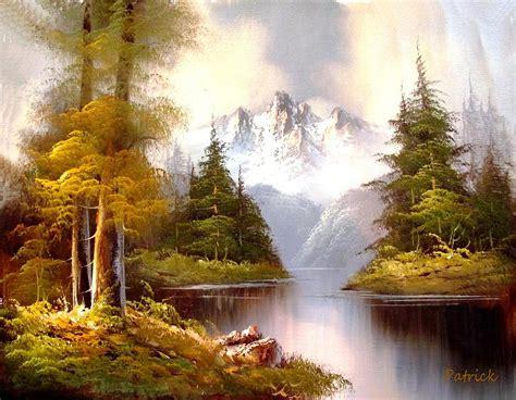 Mountain Scene Painting-mountain Scene Fine Art Print