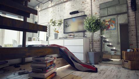 loft design by casual loft style living