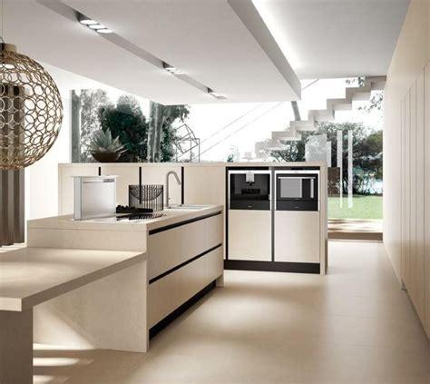 meuble cuisine couleur vanille ides de cuisine moderne avec lot bar ou table manger with