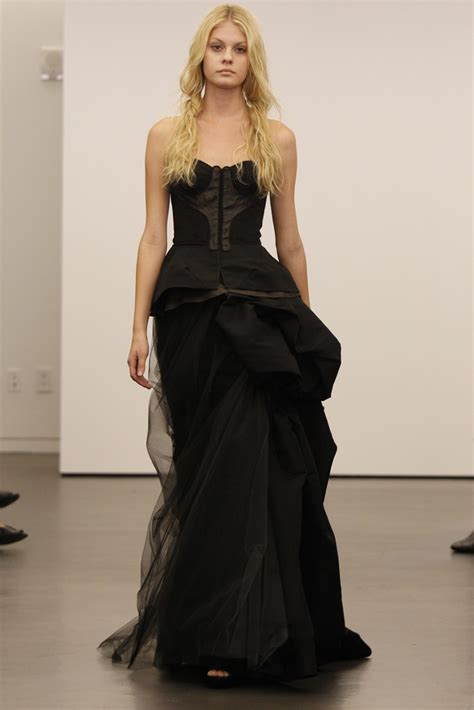 vera wang black wedding dresses pictures popsugar fashion