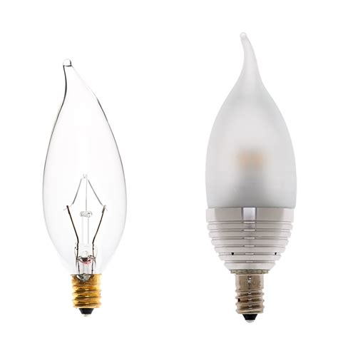 candelabra led decorative bulb bent tip shape dimmable