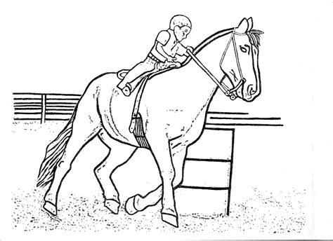 Rodeo Coloring Pages Barrel Racing Kid Color Page By