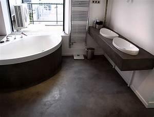salle de bain beton cire bleu solutions pour la With beton cire sol salle de bain
