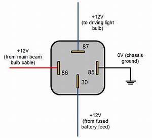 A 12v Relay Diagram