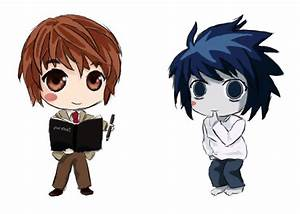 Chibi Light and L | Deathnote | Pinterest | Tes, Chibi and ...