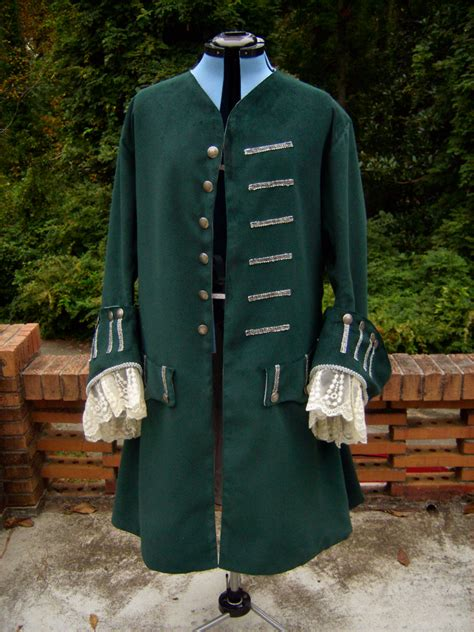 green pirate costume coat client project sewing