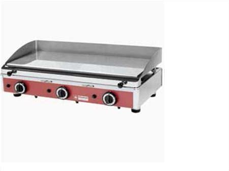 plancha plaque de cuisson lisse chromee gaz 224 800 59770 marly nord nord pas de calais