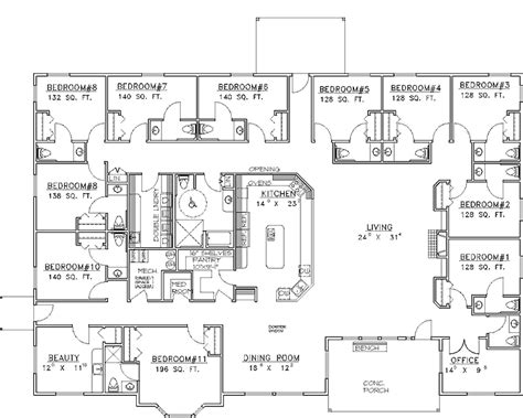 15 Bedroom House Plans by 15 Bedroom House Plan Valley Location Reduce By Half