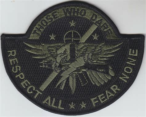 Swat Operator Police Patch Those Who Dare/respect All/fear
