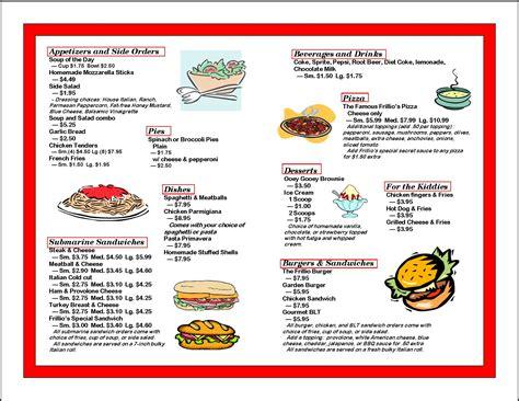 cuisine menu list food menu items list food