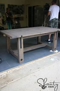 DIY Industrial Farmhouse Table and How-To Video - Shanty 2