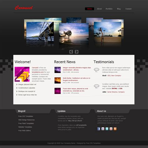 free css templates best free css templates for the year 2012