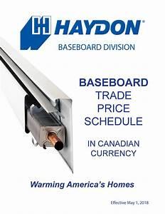 Haydon Baseboard Installation Instructions