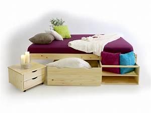 Massivholz Betten 180x200 : claas till funktionsbett kiefer massiv 180x200 cm kiefer natur ~ Markanthonyermac.com Haus und Dekorationen
