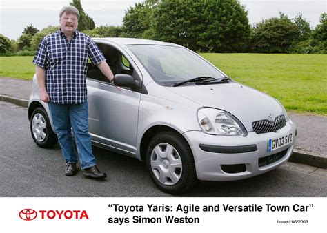 Toyota Weston by Toyota Yaris Quot Agile And Versatile Town Car Quot Says Simon